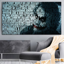 Modern Wall Art Canvas Painting Abstract Joker Portrait Posters and Prints Wall Pictures for Living Room Cuadros Home Decoration(China)