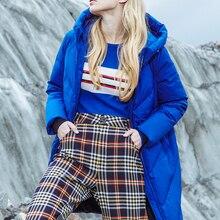 BOSIDENG women's down jacket female 2018 new long sports fashion windproof hoode