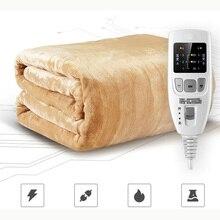 Güvenlik çift sıcaklık zamanlaması kontrol elektrikli yatak battaniyesi ev elektrikli yatak yumuşak Mat sıcak ısıtıcı yastık