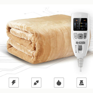 Image 1 - Security Dual Temperature Timing Controller Electric Bed Blanket Household Electric Mattress Soft Mat Warmer Heating Pad