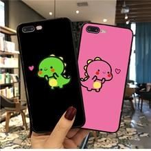 MaiYaCa Cute Cartoon Dinosaur Phone Case For iphone XS Max XR X 6 6s 7 8 plus Cases 5 5s se Cover