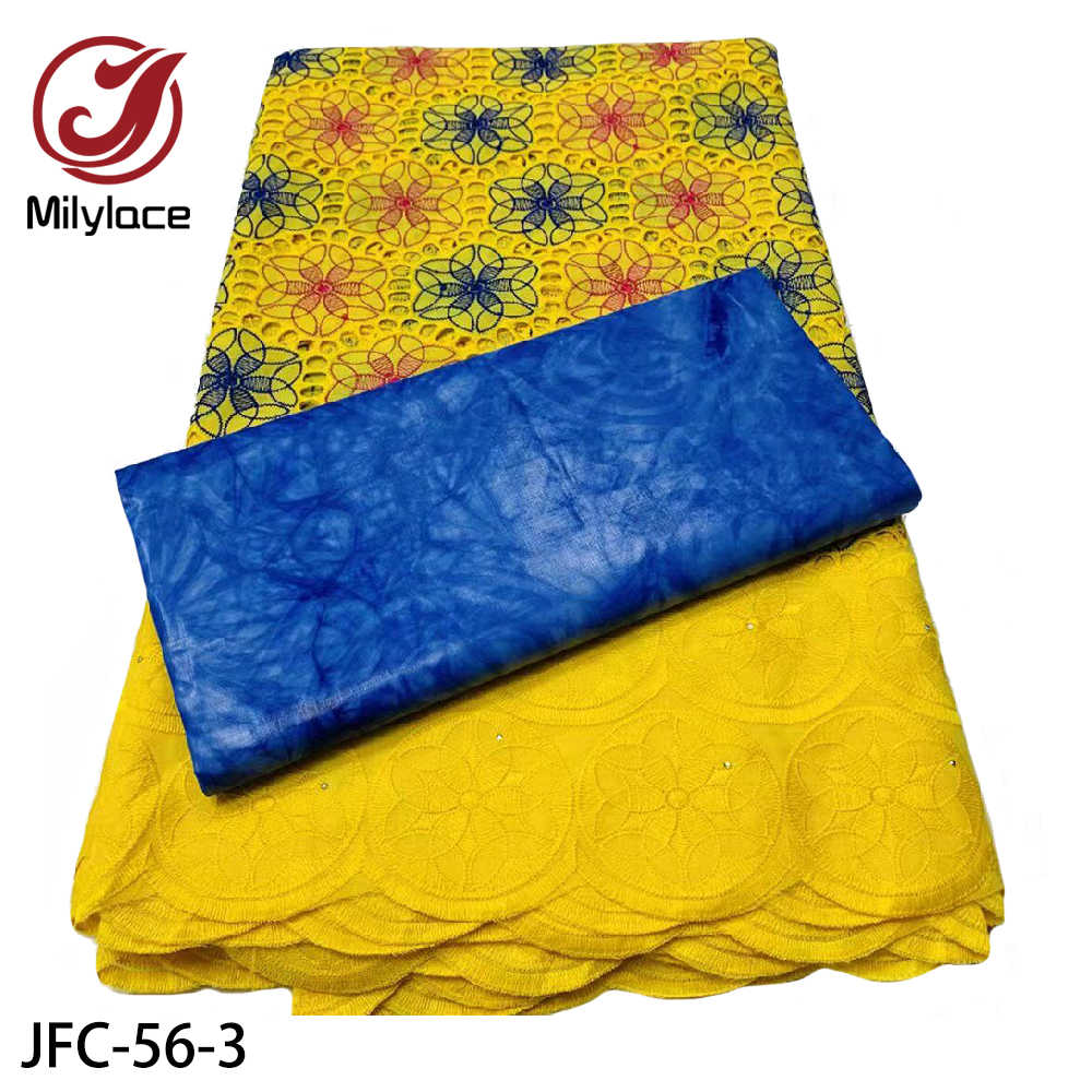 2,5 Y швейцарская кружевная ткань + 2,5 Y Bazin Brode Riche африканская вышивка 100% хлопковая ткань для вечерние платья JFC-56