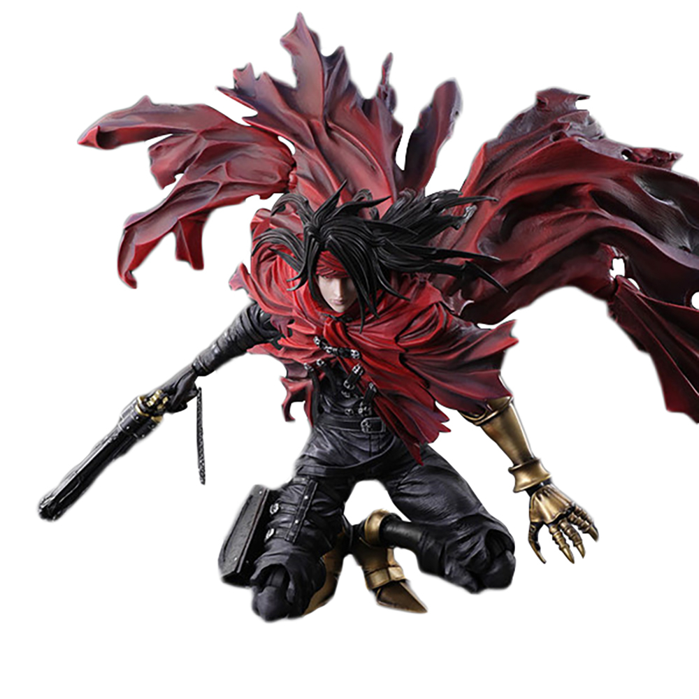 PA Play Arts KAI <font><b>Final</b></font> <font><b>Fantasy</b></font> VII <font><b>7</b></font> Vincent Valentine Game Action Figure Pvc 27cm Movie Model FF7 Collection Toys image