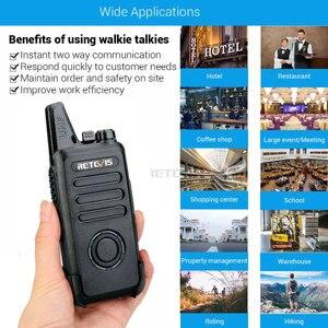 Image 5 - RETEVIS Walkie Talkie RT22S, 2 uds. Retevis RT22S, estación de Radio bidireccional portátil, VOX, carga USB, pantalla oculta para viajes de senderismo