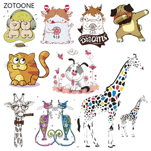 ZOTOONE Stripes Patches Iron on Transfer Cute Demon Dog Patches for T-shirts Girl Kid Clothing DIY Thermo Stickers on Clothes G