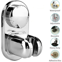 Shower Holder 5Modes Adjustable Bathroom Bracket 360°Angle Wall Mount Stand Suction Cup Support Fixing Base Punch-Free Universal