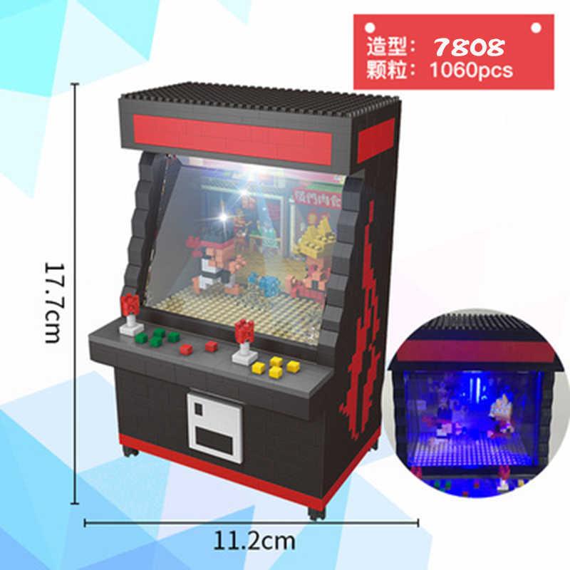ZRK klasyczne Mini klocki Cartoon Fighter gra Model klip lalki cegły dla dzieci prezent gra pokój Arcade Fighter VS loz Balody