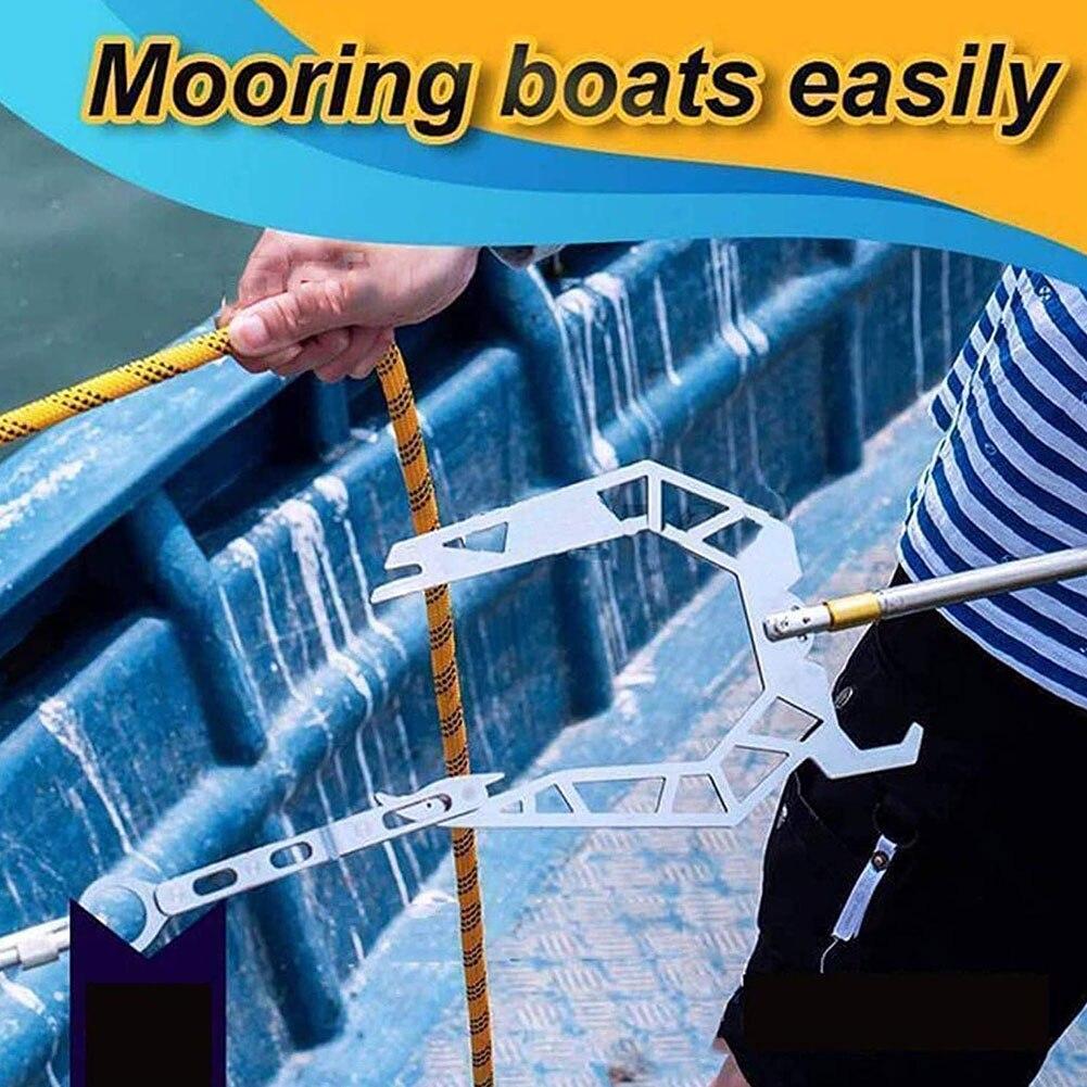 Крючок для лодки, легко растягиватель для лодки на большие расстояния,  съемник для лодки, крючок для веревки, Многофункциональный Док крючок,  Серебряный U образный съемник, аксессуары|Гребные лодки| | АлиЭкспресс