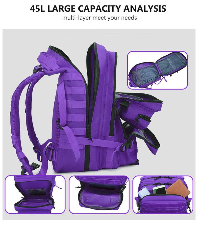 bagpack turista mochila militar acampamento caminhadas saco