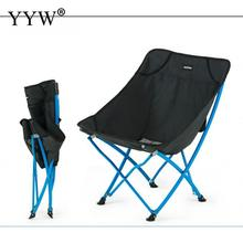 Outdoor Camp Chair Ultralight Folding Moon Chairs Stool Portable Fishing Camping Chair Foldable Backrest Seat Garden Tools foldaway garden recliner outdoor fishing stool seat outdoor tourism lounge chair free shipping