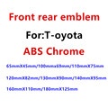 1 шт. ABS хромированный Автомобильный руль передний капот эмблема задний значок наклейка автомобильная эмблема Авто Стайлинг авто аксессуар...