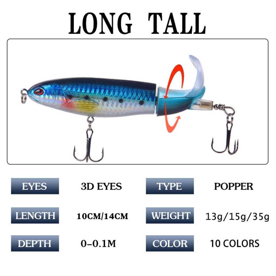 1 db dupla plopper 10cm / 14cm horgászcsali műcsali kemény lágy - Halászat - Fénykép 4