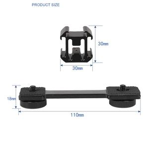 Image 3 - 3in1 Cold Shoe Mount Adapter Tripod Extension Bracket Holder for DJI OSMO Mobile 2 for Zhiyun Smooth 4 to Microphone Fill Light
