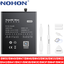 NOHON BM47 BM46 BN43 BN41 BN31 BM22 BM3L BM36 BM3E Battery For Xiaomi CC9 Mix 3 2 Mi 5 8 9 SE Pro Lite 4C 5S Max 5X Redmi 4X 3X