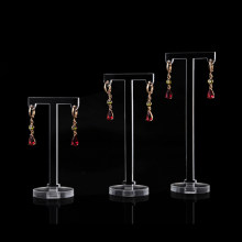 Earring stand holder jewellery display jewelers jewelry organizer stands for drop earrings hanger earing stand set case acrylic(China)