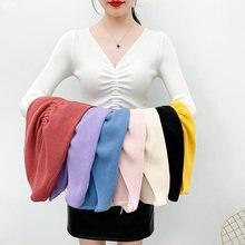 Кружевной свитер женские осенние вязаные свитеры топы 2020 корейские