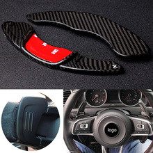 Carbon Steering Wheel Shift Paddle Extension Shifters For Volkswagen VW GOLF 7 Golf7 2015  GTI R MK7 MK7.5 R Scirocco