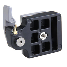 Camera 323 Quick Release Clamp Adapter for Manfrotto 200PL-14 Compat Plate 496RC 498RC2 804RC2 OUJ99 innorel upgraded all cnc process p200 ii quick release clamp kit qr plate adapter for manfrotto 501 500ah 701hdv 503hdv q5 etc