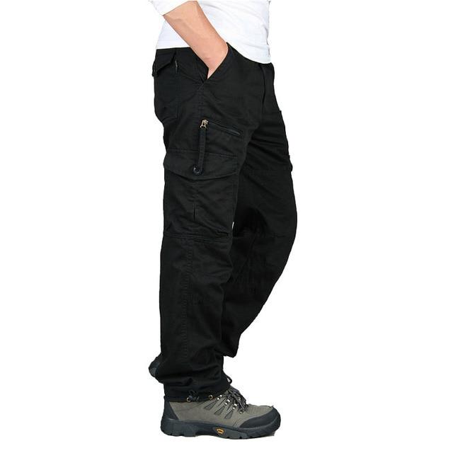 New 2019 Men Cargo Pants Multi Pockets Military Tactical Pants Men Outwear Streetwear Army Straight Slacks Casual Long Trousers 5