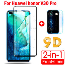 2 in 1 Protective Glass on Huawei honor V30 Pro View 30 Camera Lens Film Screen Protector Tempered Glas For honor V30 Pro glass 2 in 1 full cover 9d tempered glass for huawei honor v30 v30 pro v20 screen protector