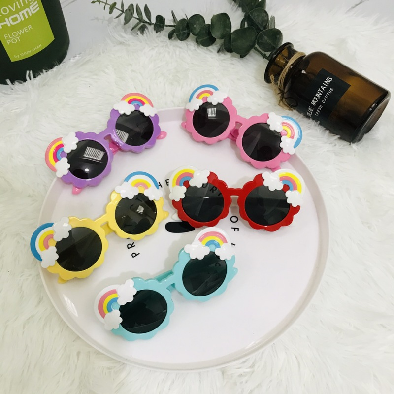 The new silica gel polarization rainbow clouds cute cartoon children glasses sunglasses sunglasses 22023 baby decoration