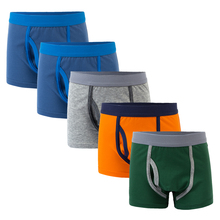 1 pcs 2 to 12 years Boys panties kids solid color underwear panties kids cotton Panties children