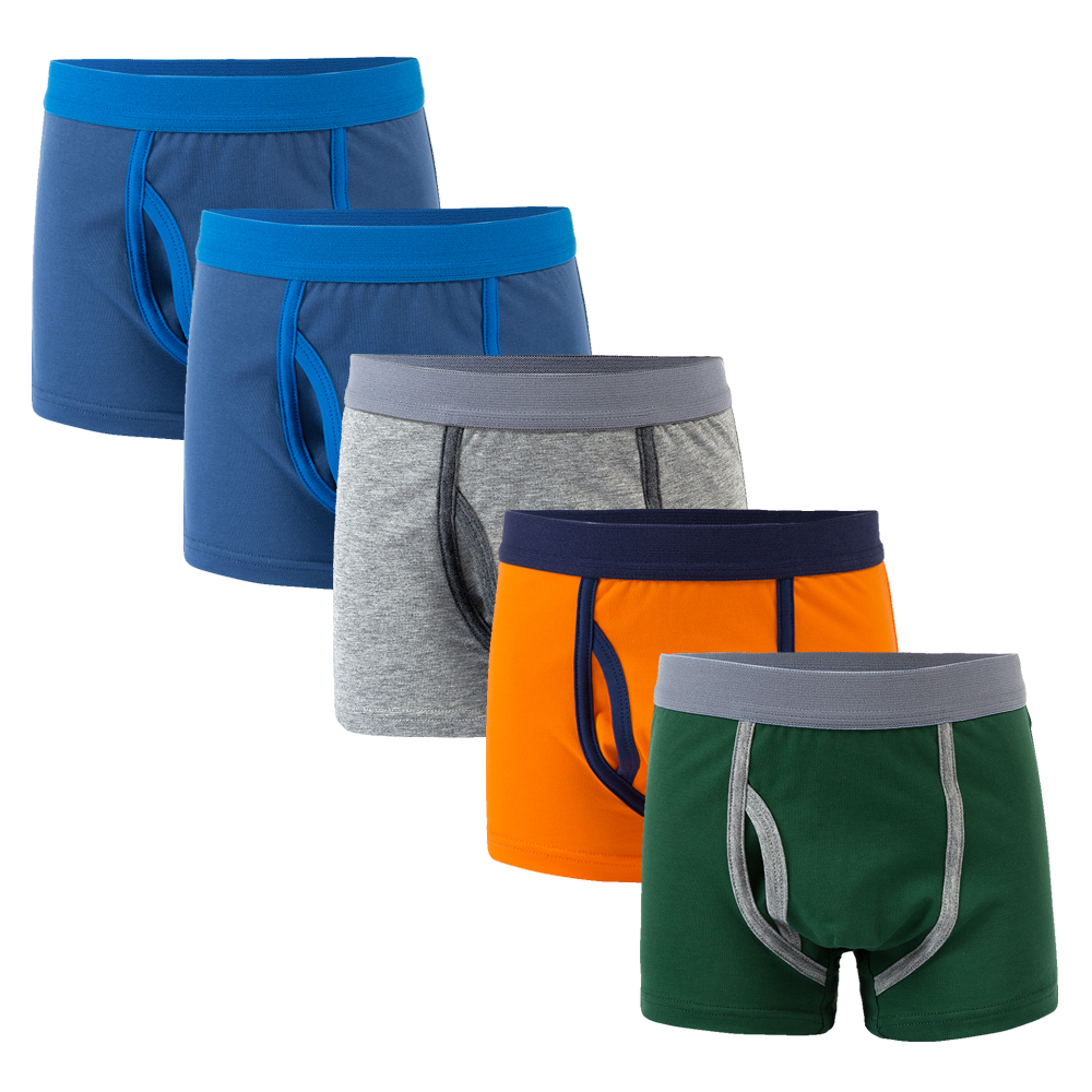 1 Pcs 2 To 12 Years Boys Panties Kids Solid Color Underwear Panties Kids Cotton Panties Children Boxers Briefs Panties For Boys