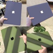 Cristal mat étui pour ordinateur portable pour Macbook Air M1 13 A2179 A2337 2020 Pro 13 A2289 A2251 A2338 barre tactile ID Air Pro 13.3 A1932 A1466
