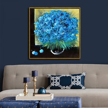 Vase blossom handmade oil paintings by numbers Artwork paint by numbers Flowers still life picture wall decoration gift(China)
