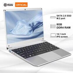 14,1 pulgadas 8GB DDR4 RAM 128G 256G SSD Notebook 1920*1080 Laptop diseño completo teclado WiFi Bluetooth para la oficina del estudiante