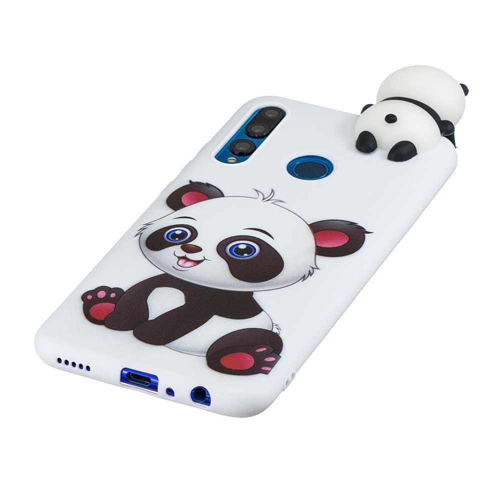 Coque de téléphone 3D, en silicone, étui avec motif d'animaux, pour Huawei Y5 Y6 Y7 Y9 Prime 2019