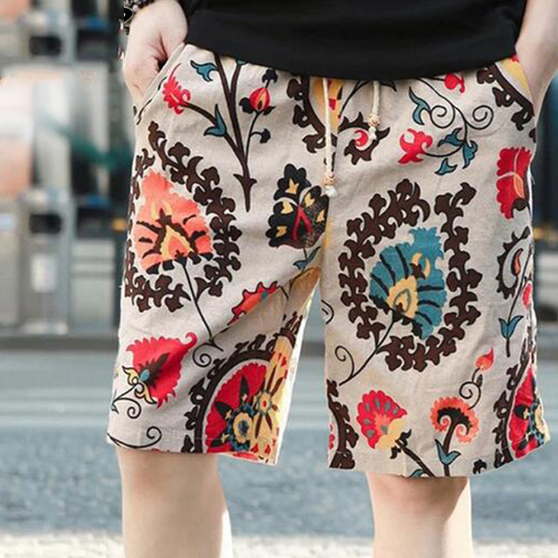 Casual Shorts Men Summer Cotton Linen Fashion Male Shorts Loose Quick Dry Mens Short Pants Streetwear High Quality Man Shorts