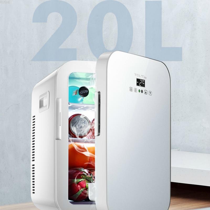 20L Car Fridge Car Home Dual Purpose Dual Core CNC Refrigerator Mini Refrigerator  Mini Fridges 12V 220V   Refrigerators