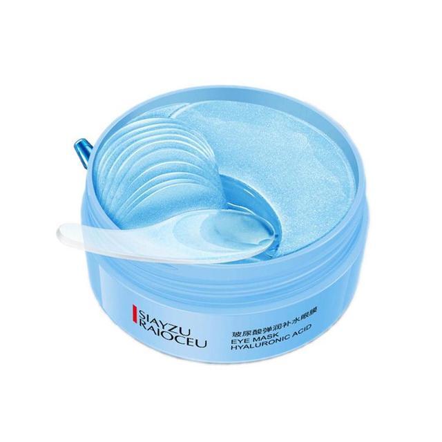 60pcs Hyaluronic Acid Firming Eye Patch Moisturizing Blue Eye Mask Remove Dark Circles Sleep Eye Mask Eye Care Korean Makeup 1