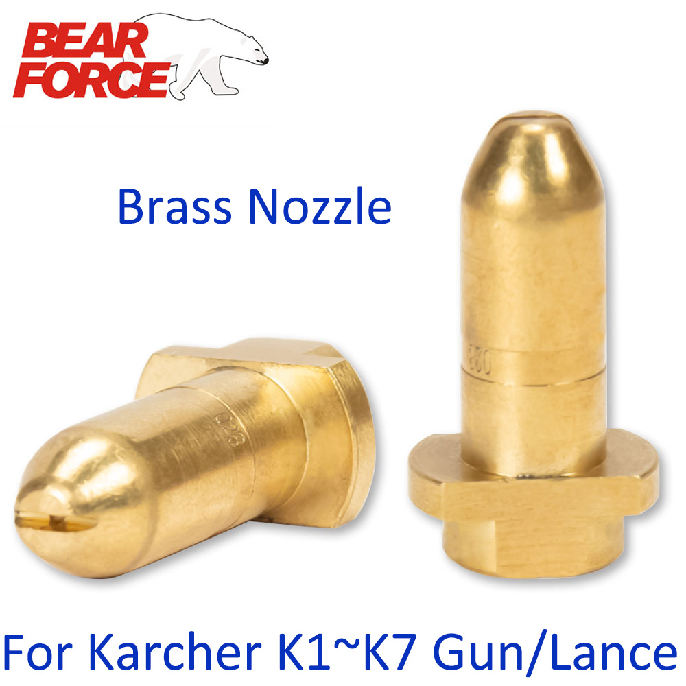 Brass Nozzle Replacement Spray Nozzle Car Washer Jet Nozzle Water Spray Tip Bullet For Karcher Pressure Washer Spray Gun Lance