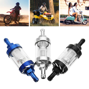 Universal Gas Fuel Filter Scooter 8mm Oil Dirt  Bike Motorcycle Quad Aluminum Alloy