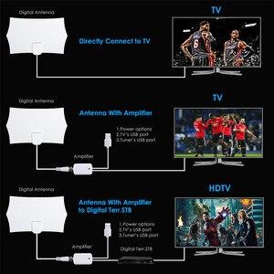 Image 4 - DVB T2 テレビ空中 300 マイルテレビアンテナデジタル HDTV アンテナ屋内 1080 1080P なしアンプ信号ブースター半径サーフキツネ