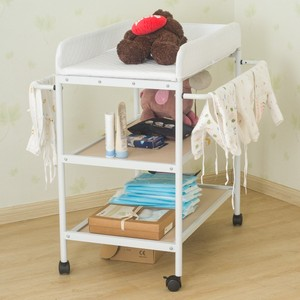 84*72*90cm Baby Crib/Cot Baby Diaper Changing Table Clothes Changing Multi-Function Newborn Baby Care Table Foldable Crib HWC
