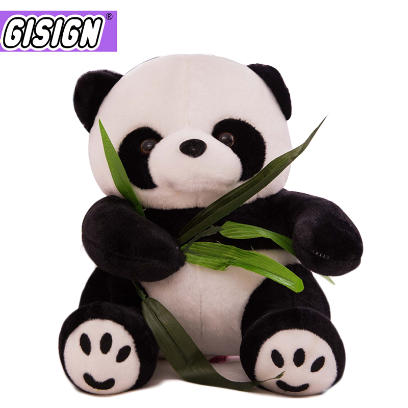 9-20cm Cute Panda Plush Toys With Bamboo Leaves Bear Pillow Soft Cartoon Animal Panda Stuffed Pendant Funny Doll Toy Kids Gifts