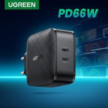 UGREEN 66W PD зарядное устройство Quick Charge 4,0 3,0 Type C PD USB зарядное устройство портативное быстрое зарядное устройство для iPhone 12 для ноутбука Xiaomi Samsung
