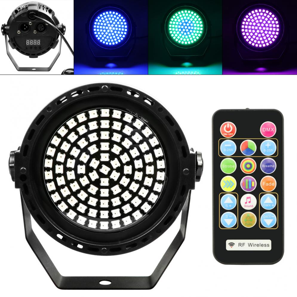 91 LED 20W Strobe Stage Effect Light Round Flash Light With DMX-512 Signal Control/RDM/Remote Control For Disco/Christmas/Club