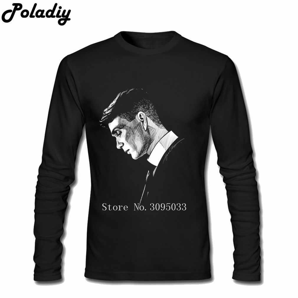 peaky blinders T Shirt Men Eminem Long Sleeve Crew Neck Cheap Tees Oversize Tshirts Leisure Classic Loose Teenboys Tee Shirts