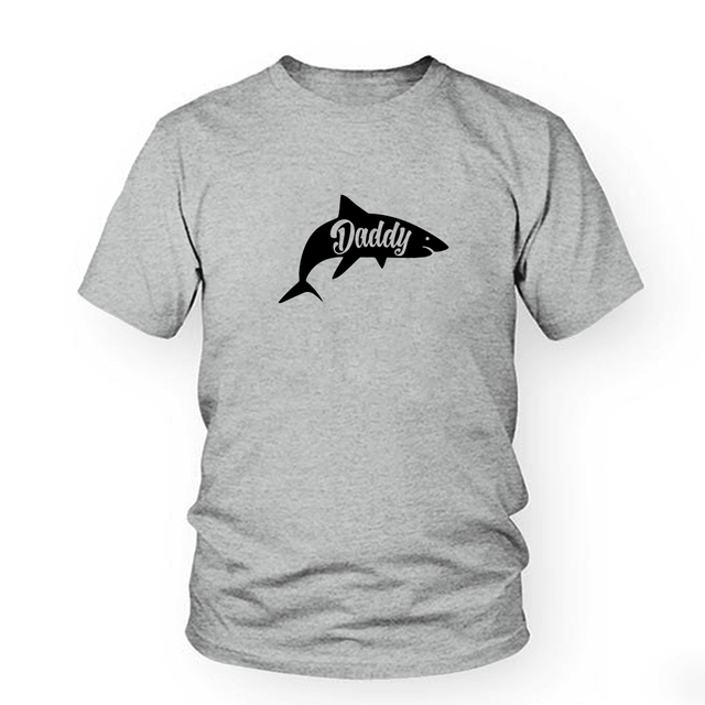 Mens Daddy Shark T shirt Cute Funny Family Cool Best Dad Vacation Tee For Guys