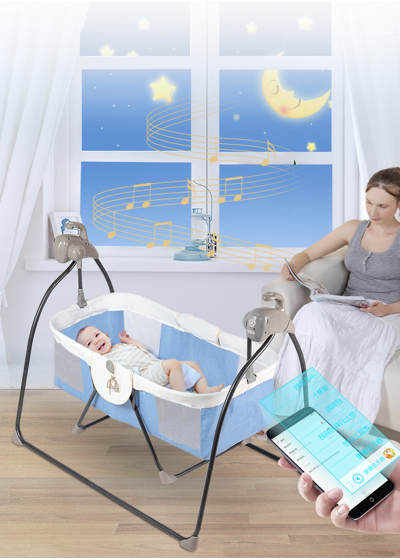 Hf65214ecac1d40a991f18e323088c059o Electric Rocking Chair Cradle Intelligent Rocking Chair Comfort Chair Baby Cradle Bed Cradle
