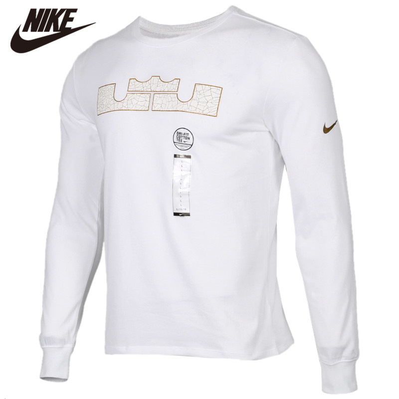 Original <font><b>NIKE</b></font> AS LBJ M NK DRY TEE STRONGEST 100% cotton Soft <font><b>Tshirts</b></font> Comfortabe Clothing Limited Sale image
