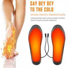 Heated-Insoles Carbon-Fiber Pad-Warmer Feet Electric USB Winter Washable Thermal-Foot-Fever