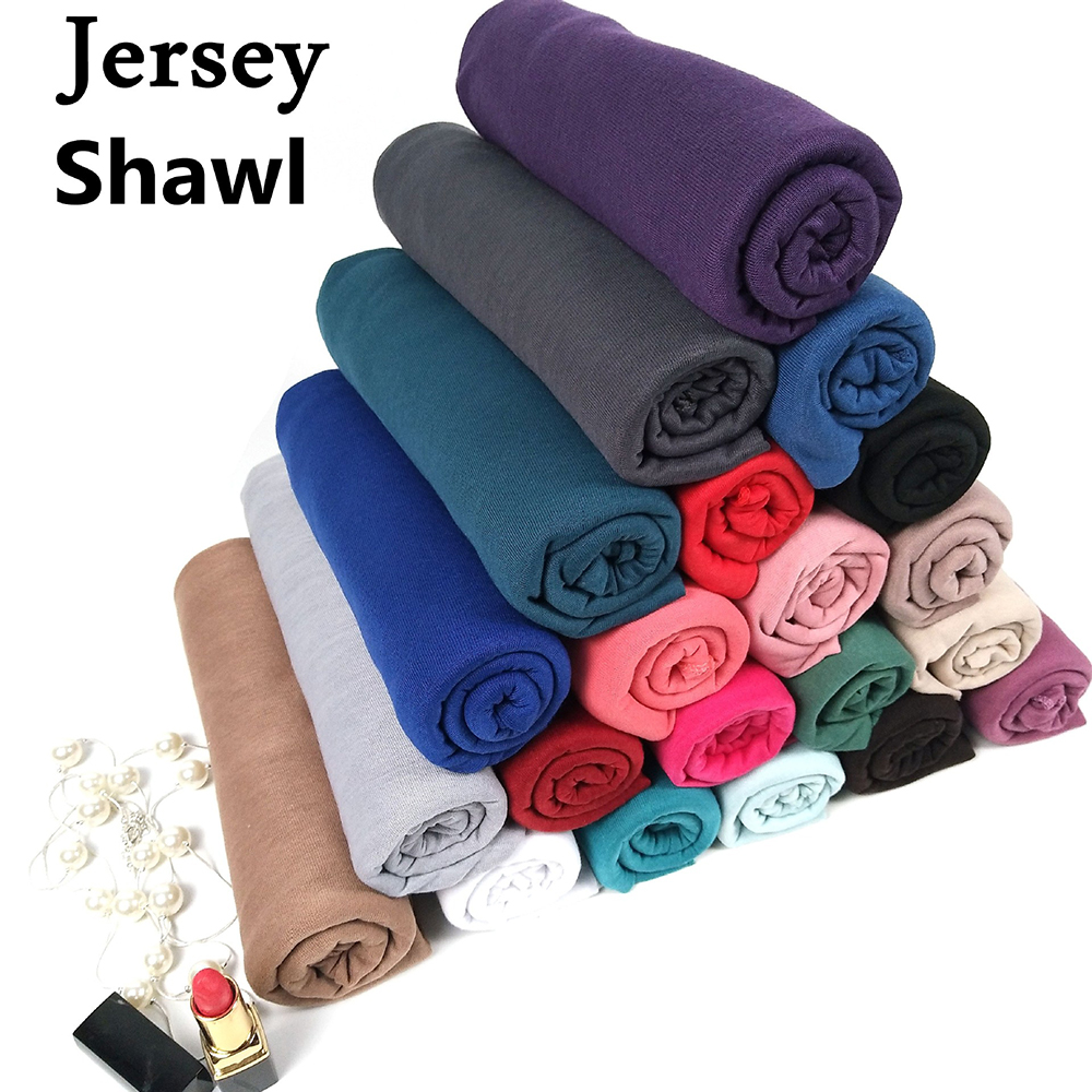 180*85 Cm Jersey Hijab Abaya Scarf  Turban Muslim Hijabs Foulard Femme Musulman Turbans For Women Headscarf Voile Mousseline