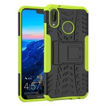 Huawei P20 Lite Case, Tyre Pattern Design Heavy Duty Tough Armor Extreme Protection Case with Kickstand Shock Absorbing Detachab