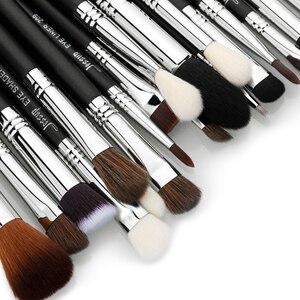 Image 3 - Jessup Juego de brochas de maquillaje profesional, base para sombra de ojos, lápices labiales en polvo, mezcla de pelo, herramienta cosmética de fibra, 7 27 Uds.