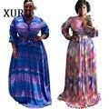 XURU, Европа и Америка, сексуальное свободное платье, комплект из двух предметов, осень, новинка, хит продаж, женское платье с принтом, большой ...